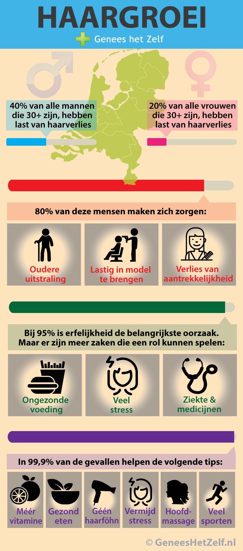 infographic haargroei - Genees Je Zelf
